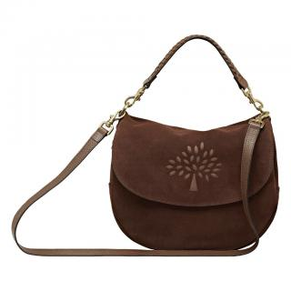 Mulberry chocolate brown suede Effie satchel