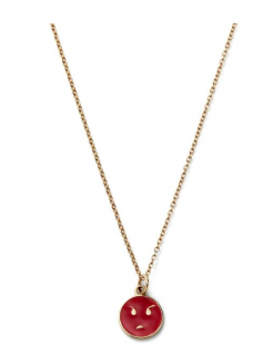Alison Lou 14kt Gold Angry Face Necklace  - Current Season