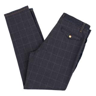 Dolce & Gabbana Checked Back Jeans