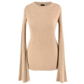 Pinko Flared Sleeve Metallic Knit Top