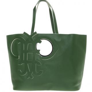 Emilio Pucci Green Leather Tote Bag