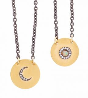 Ileana Makri Day & Night Necklace Opal & Sapphire