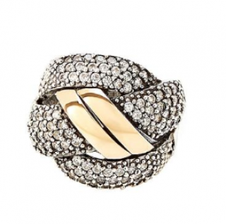 Grazia Papilio London Layered 14k Gold and Sterling Silver Knot Ring