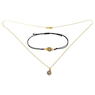Ileana Makri Evil Eye Bracelet & Little Sun Necklace