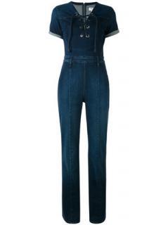 Frame Lace Up Denim 'Le Jumpsuit'