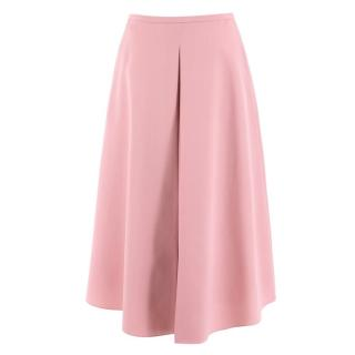 Rochas Pale Pink Wool Skirt