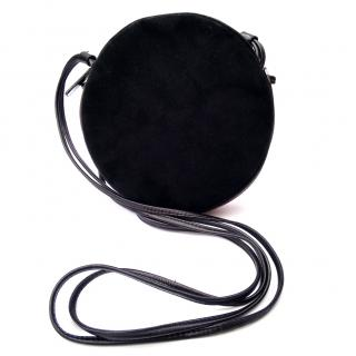Bally Vintage Black Leather Round Crossbody Shoulder Bag.