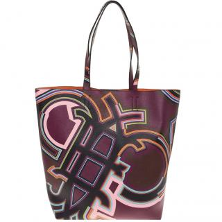 Emilio Pucci Purple Leather Tote Bag - NEW