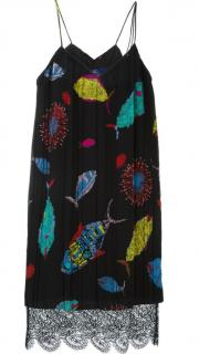 Emilio Pucci Fish Print Silk Slip Dress