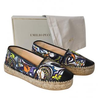 Emilio Pucci Printed Espadrilles  Size 39 or Size 40 NEW In Box