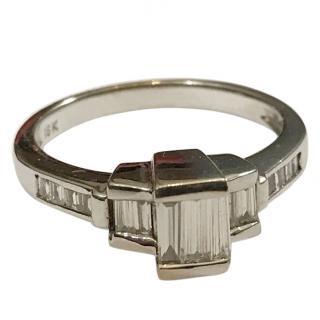 18ct White Gold 0.60 carat Emerald Cut Diamond Ring