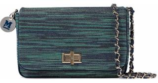 M Missoni Metallic crochet knit shoulder bag
