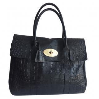 Mulberry Bayswater Croc Embossed Handbag