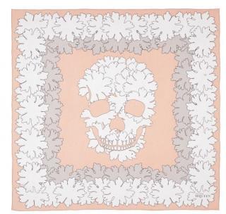 Alexander McQueen 'Bloom Skull' Scarf