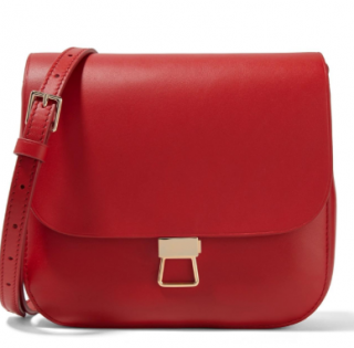 Theory Red Perry Shoulder Bag