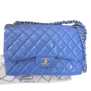 Chanel Patent Jumbo Timeless Flap Bag
