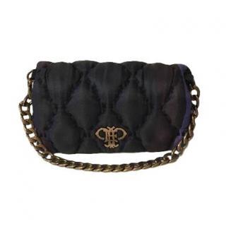 Emilio Pucci Mini Blue Quilted Shoulder Bag