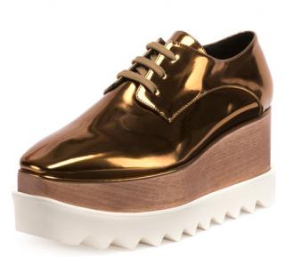 Stella Mccartney Elyse Metallic Platform Shoes