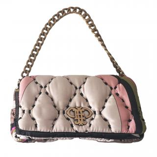 Emilio Pucci Mini Pink Abstract Print Quilted Bag