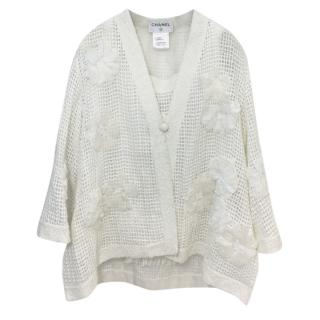Chanel Lesage Camellia Tweed Jacket and Matching Top