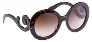 Prada Women's Minimal Baroque dark brown Sunglasses