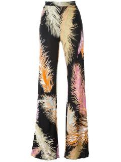 Emilio Pucci Feather Silk Trousers