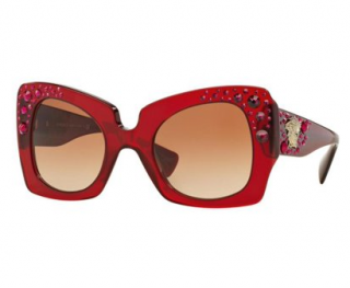 Versace 4308B Red Oversize Sunglasses
