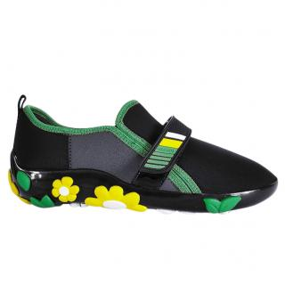 Prada neoprene colour block floral trainers