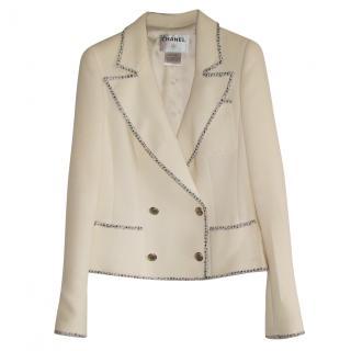 Chanel white tweed jacket