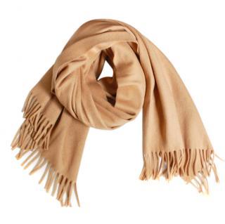 Max Mara Camel Wool Scarf