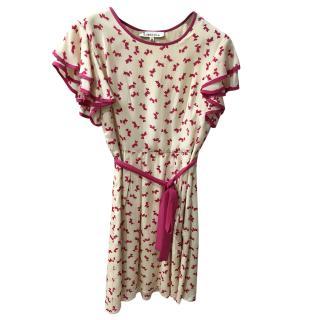 Libelula Cream & Pink Printed Dress