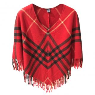 Burberry Classic Check  Wool & Cashmere Poncho