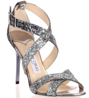 Jimmy Choo Glitter Strappy Sandals