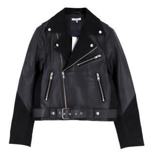 Ganni Leather and Suede 'Lloyd' Biker Jacket