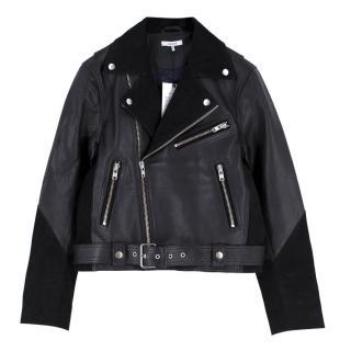 Ganni Leather and Suede 'Lloyd' Biker Jacket