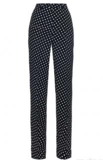 Bottega Veneta runway Polka-dot wide-leg trousers