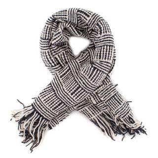 Aessai Wool-Blend Knit Tassled Scarf