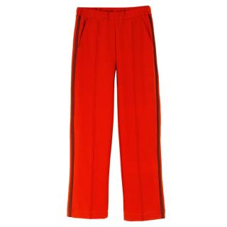 Etre Cecile Red Rib Retro Track Pants