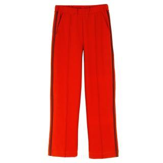 Etre Cecile Red Rib Retro Track Pants