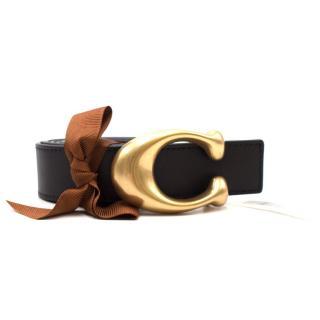 Coach Sculpted Signature Belt