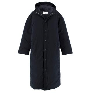 Raey Navy Long Parka Coat