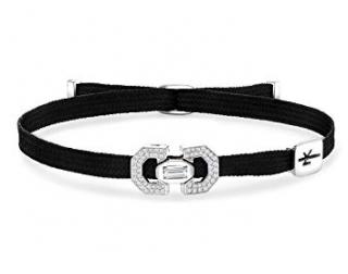 Nikos Koulis Black Yesterday Diamond Cord Bracelet