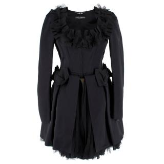 Dolce & Gabbana Black Tulle Coat