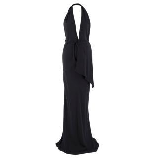 Lanvin Black Silk Halterneck Gown