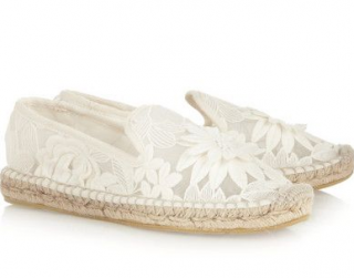 Tory Burch Floral White Espadrilles