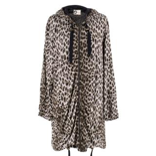 Lanvin Leopard Printed Hooded Jacket