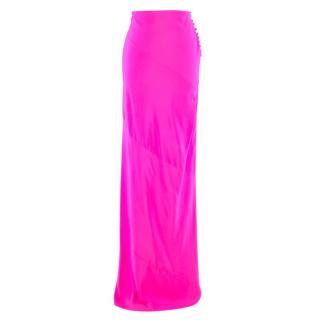 Preen By Thornton Bregazzi Neon Pink Maxi Skirt
