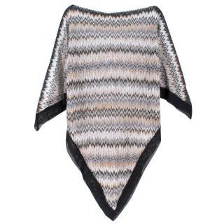 Missoni Multicolored Crochet-Knit Poncho