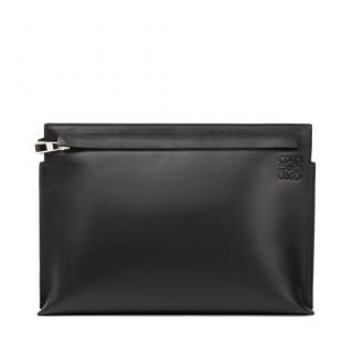 Loewe T Pouch Bag Black with Strip