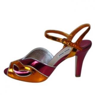Mui Mui Metallic Sandals